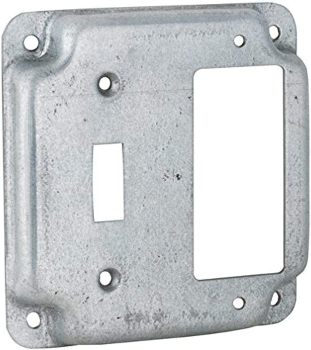 Box of 10 Hubbell 810C Square Box Cover