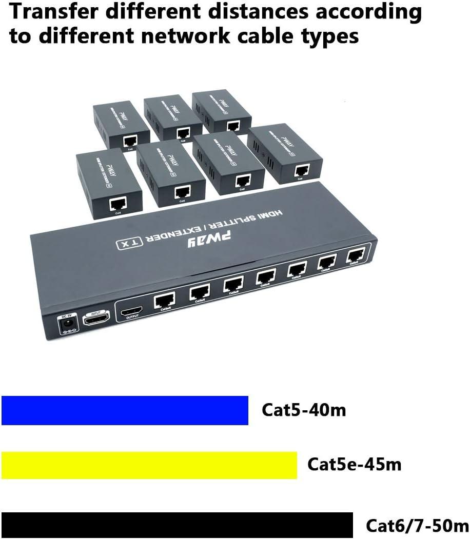 Pw Ht226p7 Poc 1x7 Port Hdmi Extender Splitter Elektronik