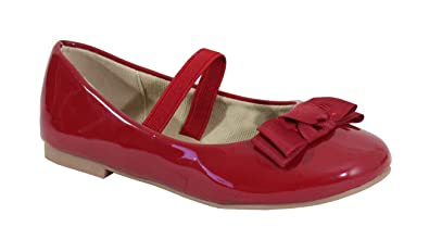 1f0821d9f98fd By Shoes Ballerine Plate Style Vernis Pour enfant - Taille 23 - Red ...