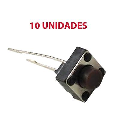 10x Micro Pulsador Interruptor SWITCH 6x6x5 mm PCB ARDUINO 2 PINES LARGOS