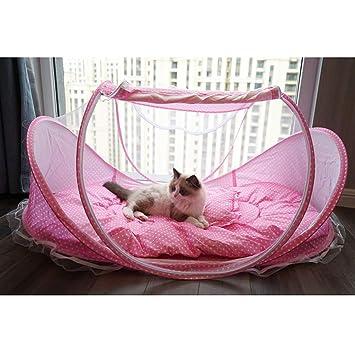 Lamzoom - Tienda de campaña para Mascotas, Plegable, para Gatos, portátil, Impermeable