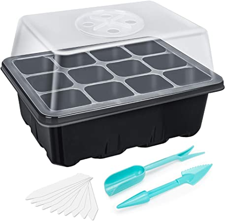 3 x 24 Cell Multi Cell Plastic Seed Seedling Tray Young Plants Propagator Garden