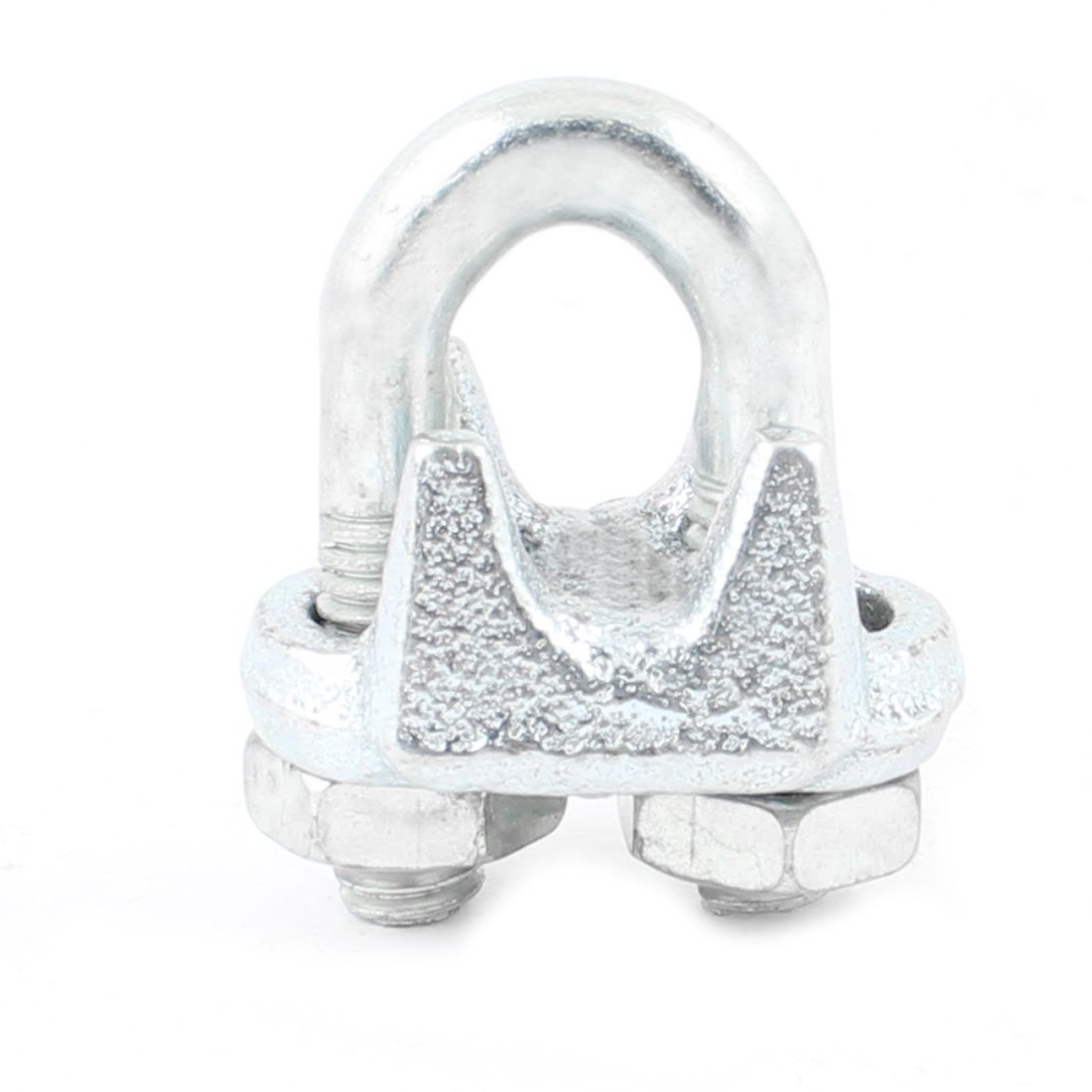 Aexit Hardware Tool Chain /& Rope Fittings Silver Tone 8mm 5//16 Wire Rope Clip Wire Rope Clips Cable Clamp