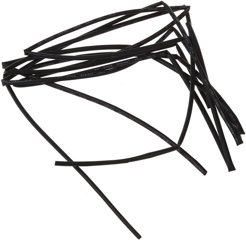 Gaine thermor/étractable 1 m ACAMPTAR Noir 1,5 mm de diam/ètre