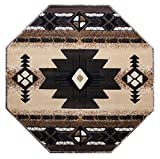 Concord Global Trading South West Native American Octagon Area Rug Design C318 Berber (4 Feet X 4 Feet) Octagon