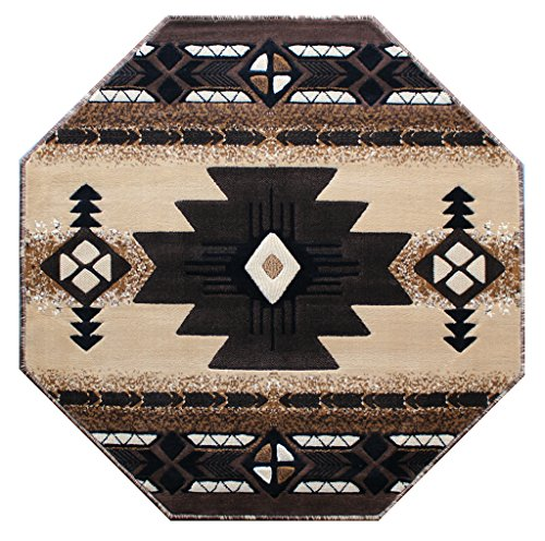 Cheap  Concord Global Trading South West Native American Octagon Area Rug Design C318..
