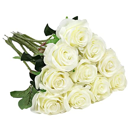 Houda artificial flowers real touch silk artificial fake rose houda artificial flowers real touch silk artificial fake rose flowers home decorations for bridal wedding mightylinksfo