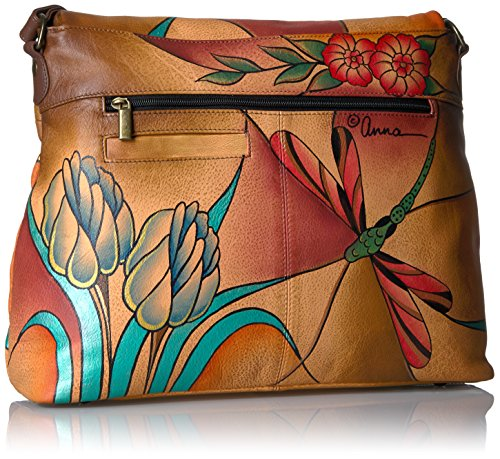 Flap ANNA Hand bag jewelled by Painted Anuschka Jwg Wing Large SHWqXrHw