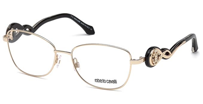 bd002a66d6 Image Unavailable. Image not available for. Color  Roberto Cavali CALCINAIA  RC5027-028 METAL EYEGLASS FRAME 54MM