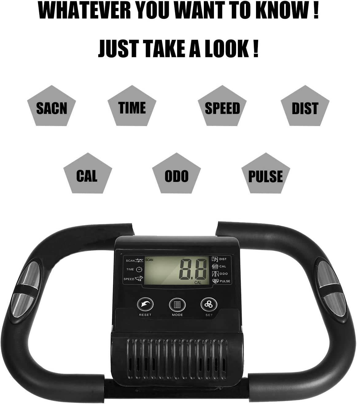 iHomey Folding Exercise Bike Foldable Magnetic Upright Indoor Cycling Bike with Phone Mount and Resistance Bands for Home Cardio Workout