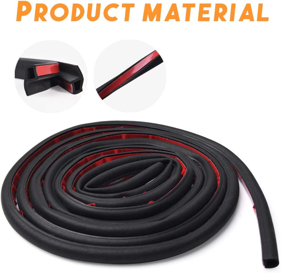 MICTUNING Tesla Model 3 Door Seal Kit Rubber Soundproof Weather Draft Wind Noise Reduction Kit