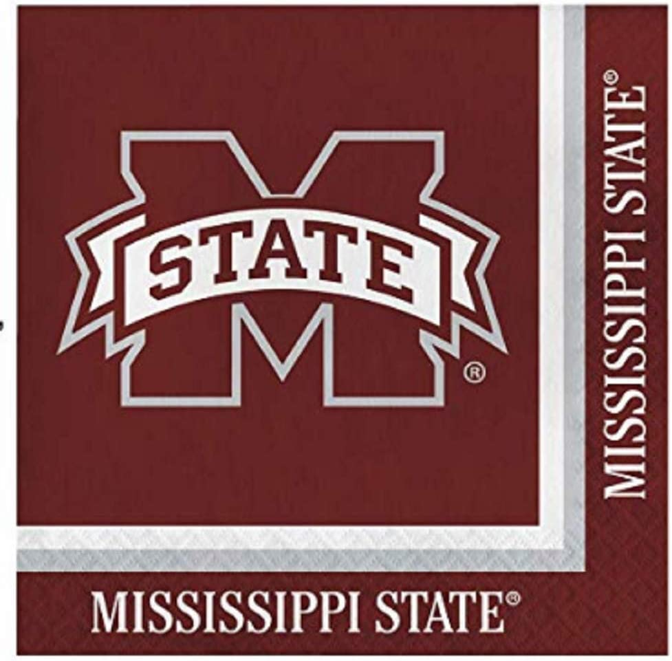 Mississippi State Bulldogs Lunch Napkins, 60 Count