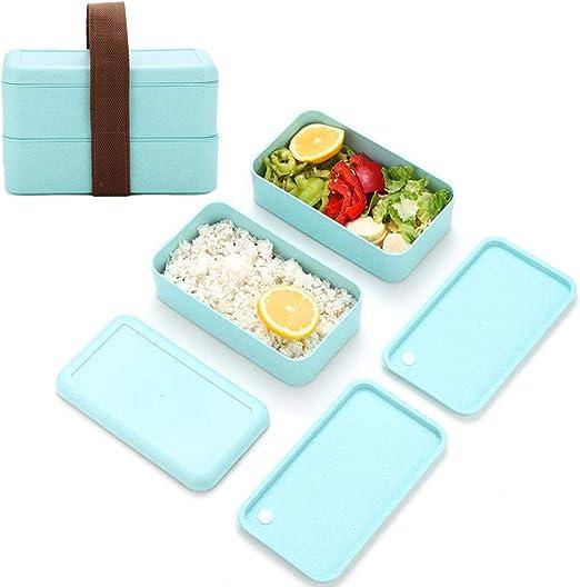 Caja de Bento para niños y adultos, Caja de almuerzo portátil a ...