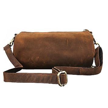 17d4a30c9d7e8 Paonies Damen Büffelleder Umhängetasche Ledertasche Damentasche für Freizeit  Outdoor