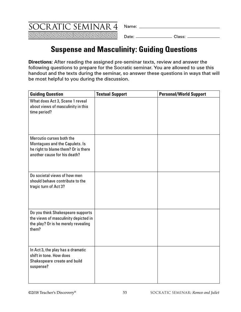 ROMEO AND JULIET STUDY GUIDE QUESTIONS AND ANSWERS - York