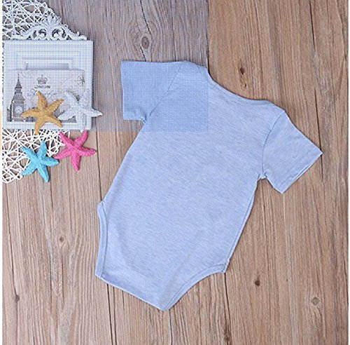 Rainbowlight Newborn Infant Baby Clothes T-shirt,Baby Tee Got My Mind On My Mommy One piece Romper Set, Short Sleeve BabySuit, Blue, 70/0-3 Months