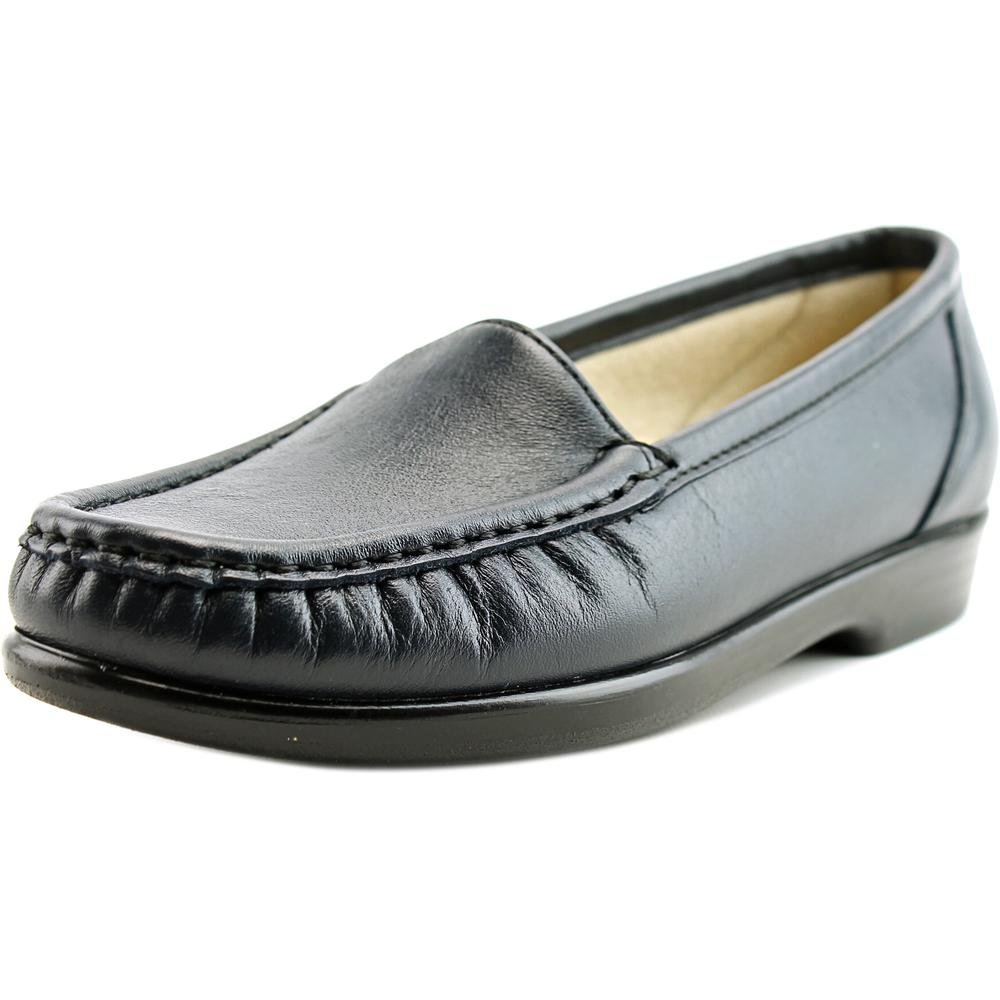 SAS Simple Women's Slip On Leather Loafer B01MFAPOFG 11 N - Narrow (AA) US|Navy