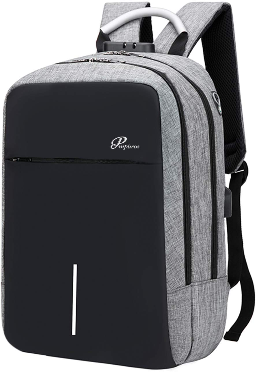 Student Backpack, School Water Resistant Backpack for Men/Women Boy/Girl Anti-Theft College Backpack with USB Charging Port & Headphone Interface Fits 14 inch Laptop/Notebook for Travel Work Study