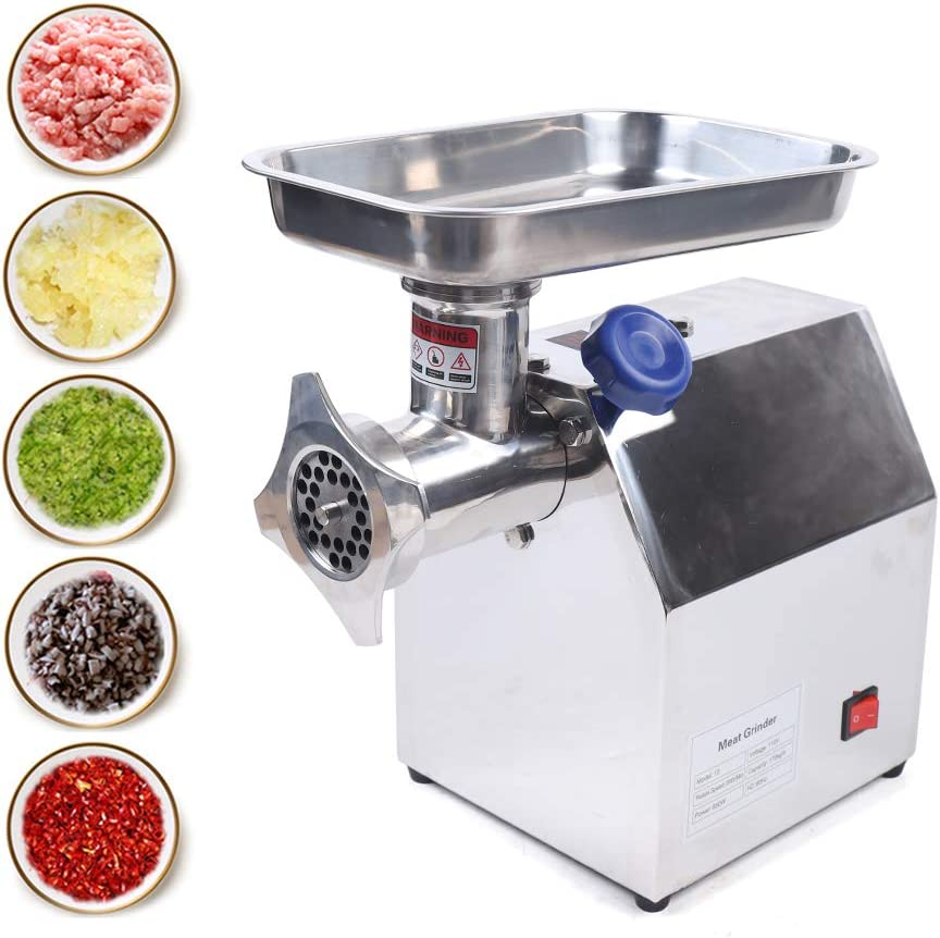 Heavy Duty Electric Meat Grinder, Commercial Grade Sausage Stuffer Maker with Stainless Steel Blades, Motor Speed 200r/min, 170kg/H Capacity(110V 850W)