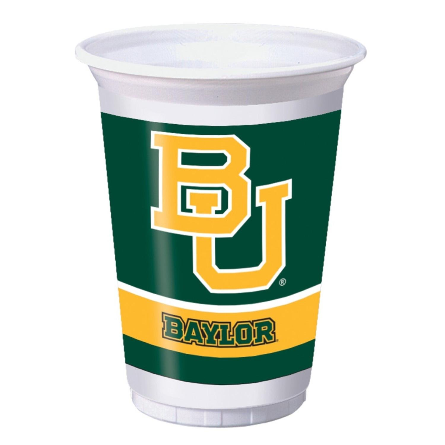 Club Pack of 96 NCAA Baylor University Disposable Plastic Drinking Party Tumbler Cups 20 oz. by Party Central (Image #1)