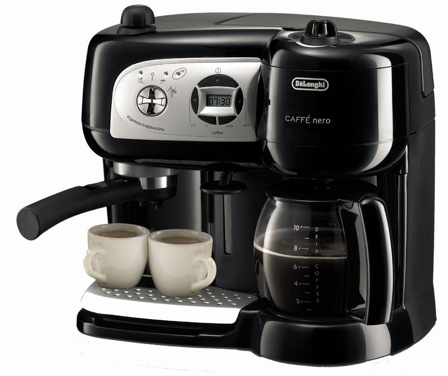 delonghi bco264b cafe nero combo coffee and espresso maker. Black Bedroom Furniture Sets. Home Design Ideas