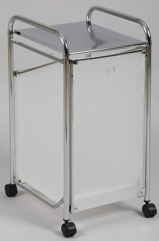 Dim avec Panier basculant PEGANE Meuble de Salle de Bain en Acier chrom/é L 340 x l 390 x Ht 685 mm