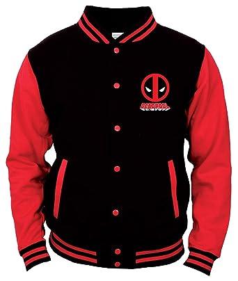 Deadpool - Chaqueta - Universidad - para Hombre Negro Blanco ...