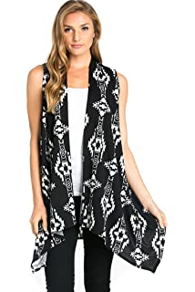 875e23fb4f47cb Come Together California Womens Lightweight Sleeveless Open Cardigan ...