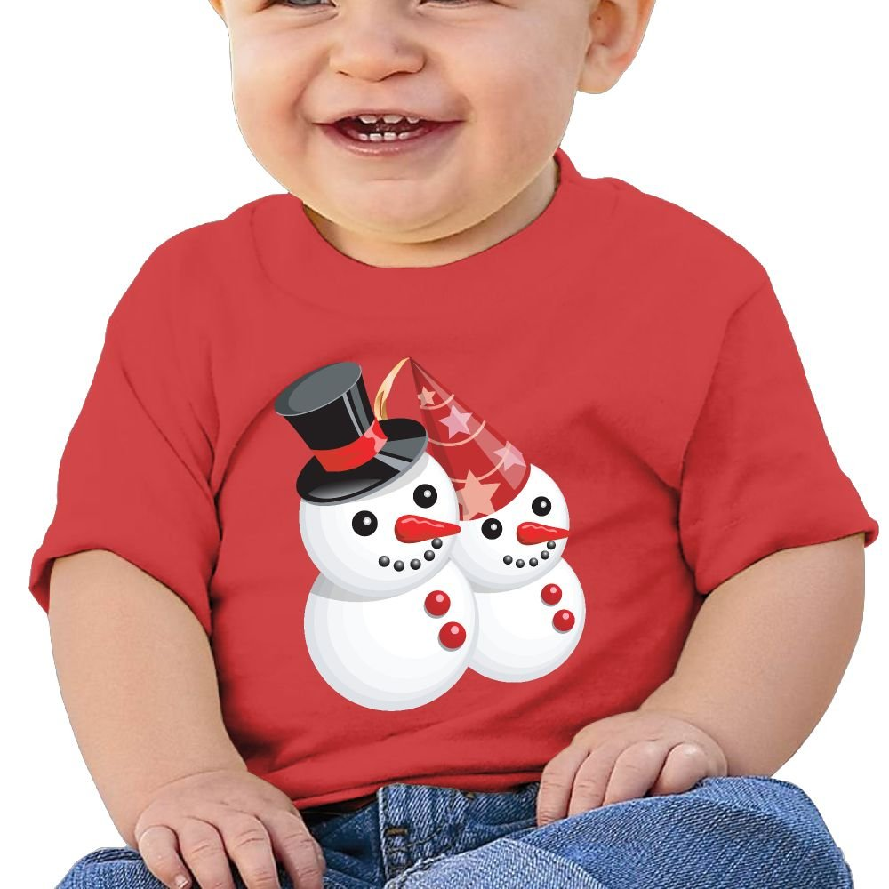 Mr and Mrs Snowman Baby Clothing Tops Unisex Comfortable Merry Christmas Cotton Baby Toddler Undershirts Tops