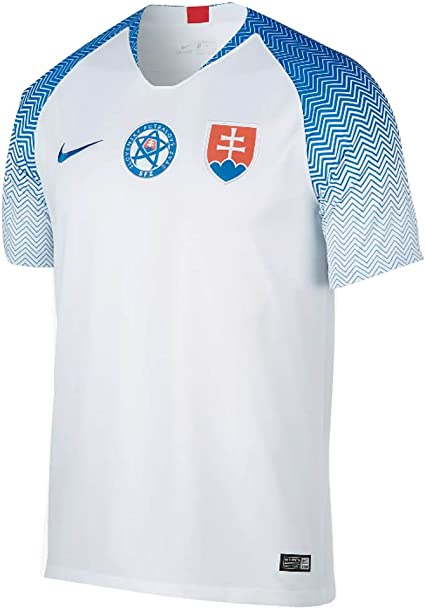 Nike 2018-2019 Slovakia Home Football Soccer T-Shirt Camiseta ...