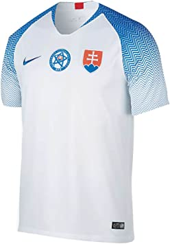 NIKE 2018-2019 Slovakia Home Football Soccer T-Shirt Camiseta: Amazon.es: Deportes y aire libre