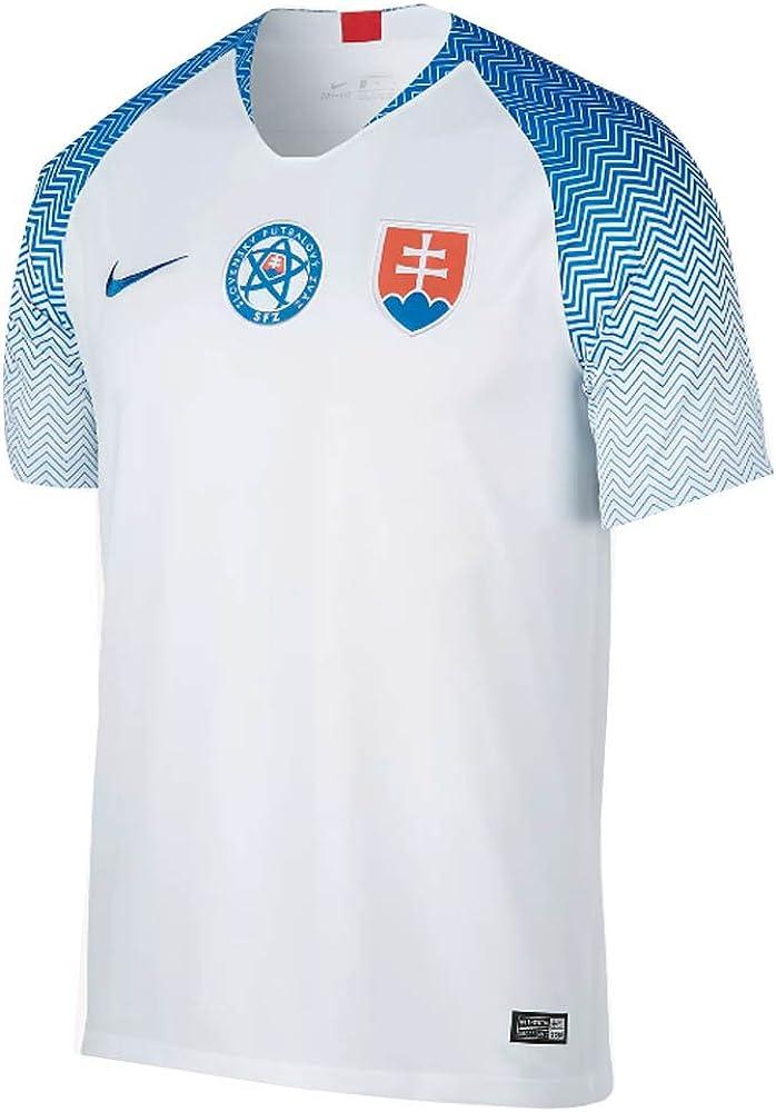 Nike 2018-2019 Slovakia Home Football Soccer T-Shirt Jersey