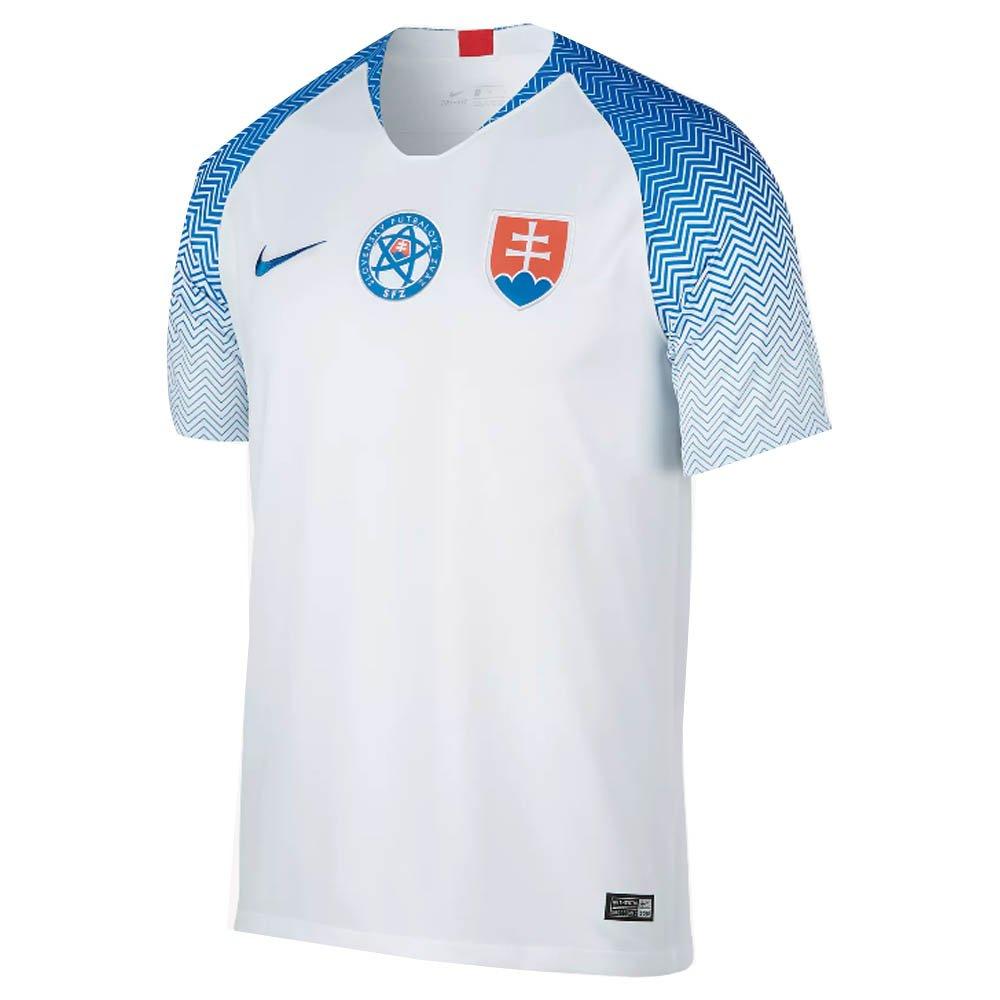 Nike 2018-2019 Slovakia Home Football Soccer T-Shirt Trikot