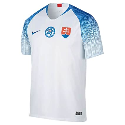 competitive price 5a6b9 81a76 Nike 2018-2019 Slovakia Home Football Soccer T-Shirt Jersey
