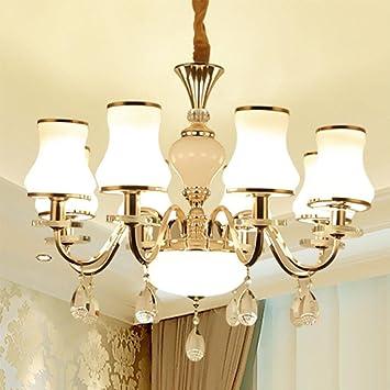 Europäischen Kristall Kronleuchter Schmiedeeisen Esszimmer Beleuchtung Moderne  Wohnzimmer Lampe Deckenleuchte Schlafzimmer LED Kronleuchter (einstellbar