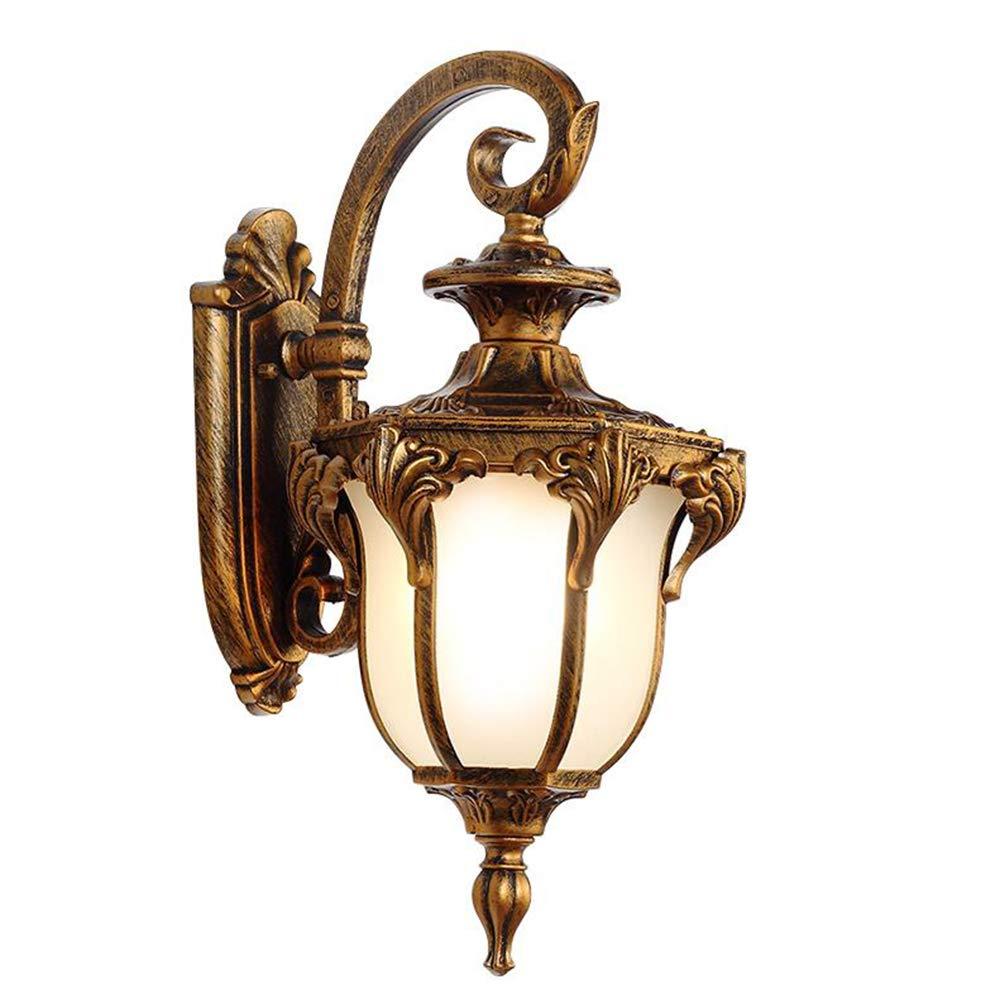 una marca di lusso CFWLT Applique da da da parete per esterni, corpo lampada in alluminio per lampade da parete decorazione camera da letto corridoio oro, nero (dimensioni   Small)  miglior reputazione