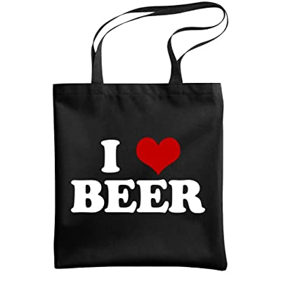- I HEART BEER - love drink alcohol party - Heavy Duty Tote Bag