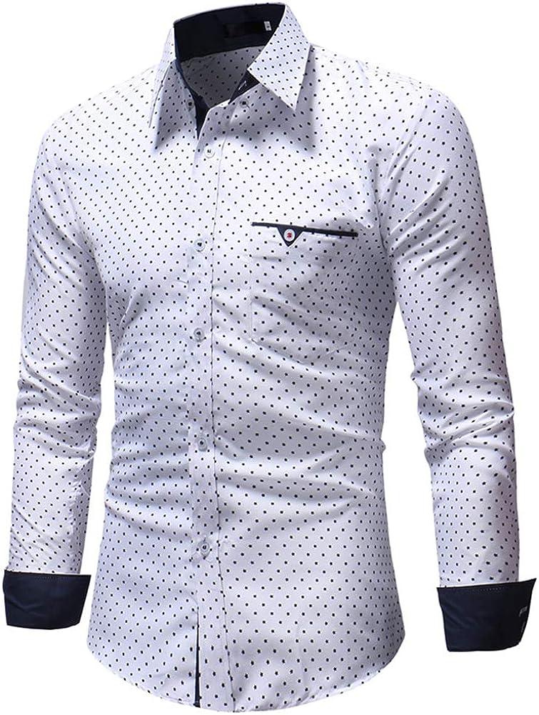 Mr.BaoLong&Miss.GO Otoño Camisa De Manga Larga para Hombre ...