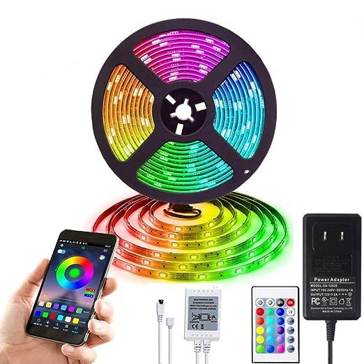 Bluetooth APP ilumina 50RGB control de voz inteligente de ...