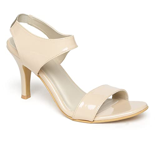 56e2af46797c Monrow Kimmy Nude Patent Kitten Heels  Buy Online at Low Prices in India -  Amazon.in