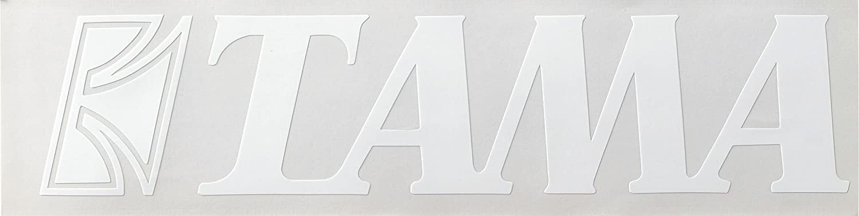 "TAMA Logo Sticker White-2"" x 9"" (TLS100WH)"