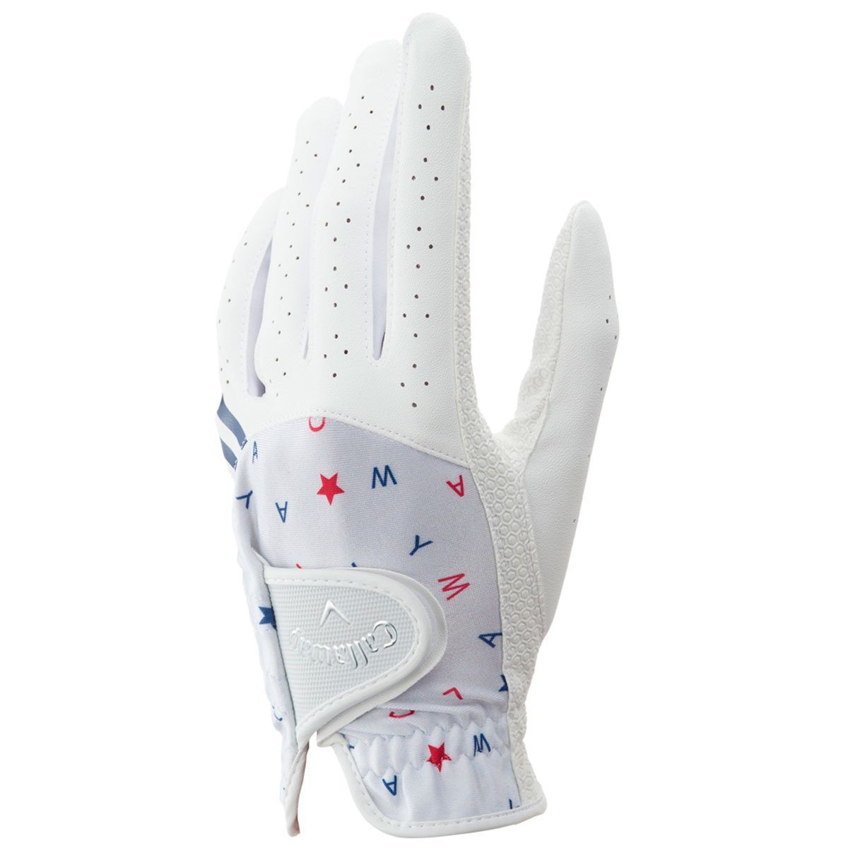Callaway Golf Japan Exclusive Chev Dual Women's Golf Gloves, Pair, White, Small (18cm)