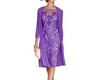 Sky Dress Women's Mother of The Bride Dresses Tea Length with Jacket SD001PL-US6