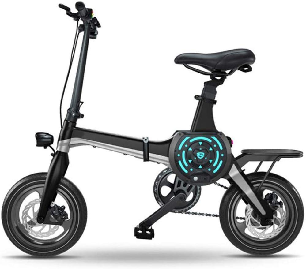 Rxrenxia Bicicleta Plegable Eléctrica, Bicicletas 14 Pulgadas De ...