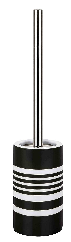 Spirella Tube Brosse de Toilettes WC Motif Rayures, Noir 10.17291