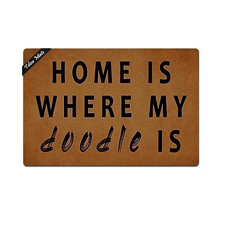 Amazoncom Tdou Mats Home Is Where My Doodle Is Doormat