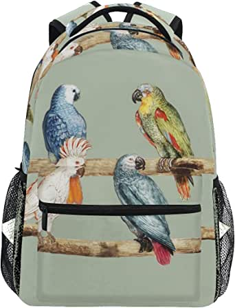 Amazon.com: Parrot Pattern Simple Backpack School Bags