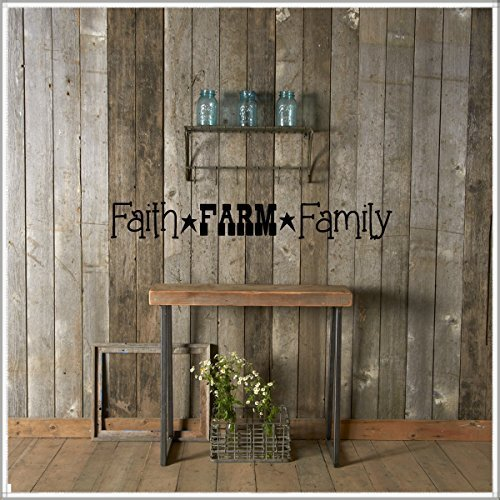 Faith Farm Family Vinyl Wall Words Decal Sticker Graphic by Country Chic Decals