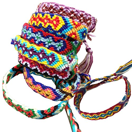 Rimobul Nepal Woven Friendship Bracelets  8 pack