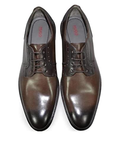 c81e848e1c5 BOSS Hugo Vero Cuoio C-Corio Dark Brown Leather Derby Shoes (UK 10 ...
